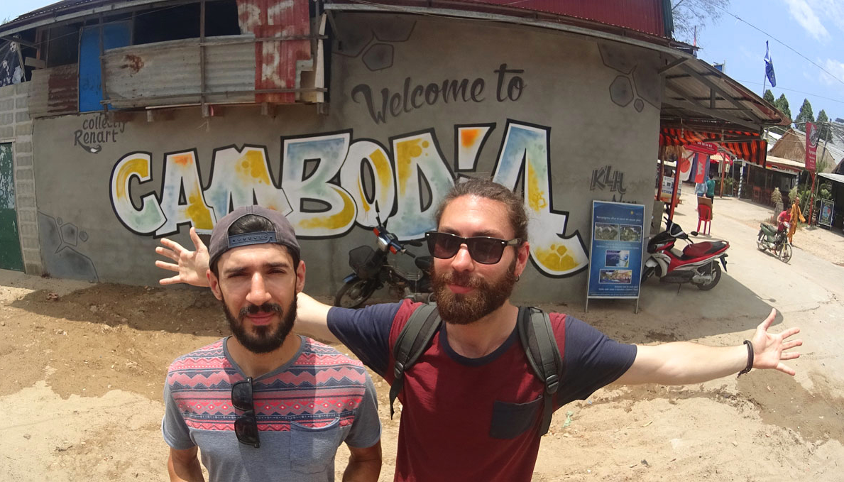 Nuno and Mario in Cambodia