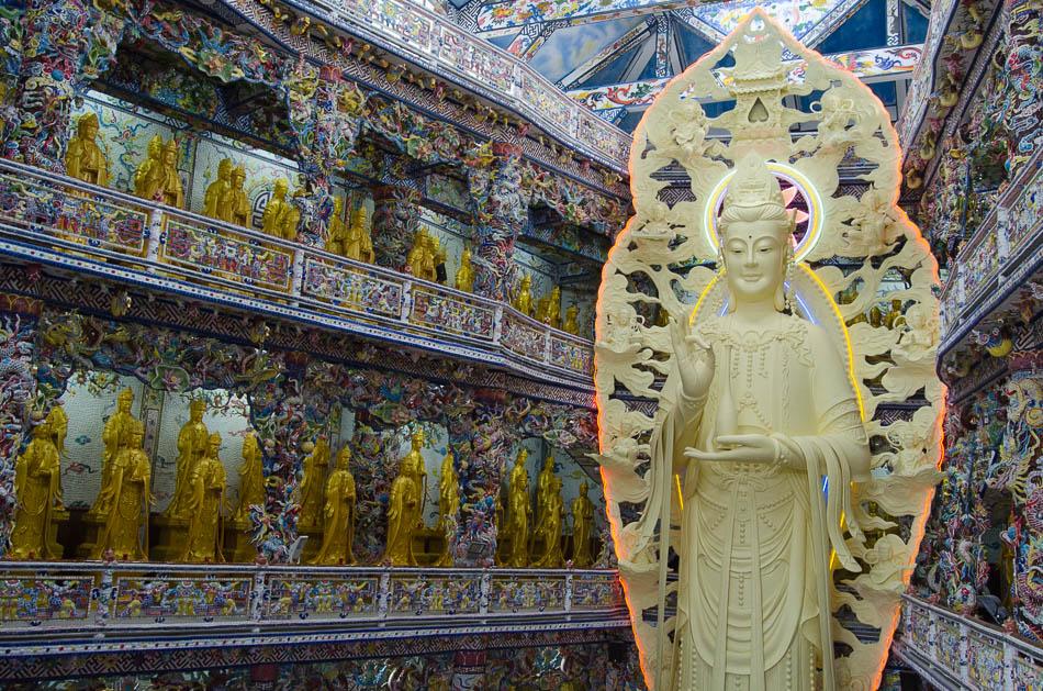 Giant buddha at Linh Phuoc Pagoda Vietnam