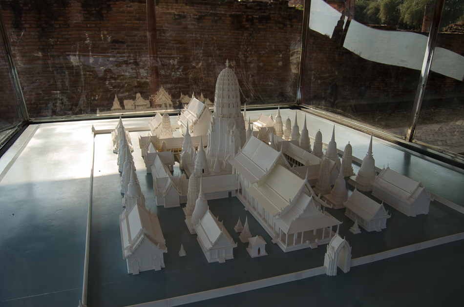 A mockup model of a temple in Ayutthaya