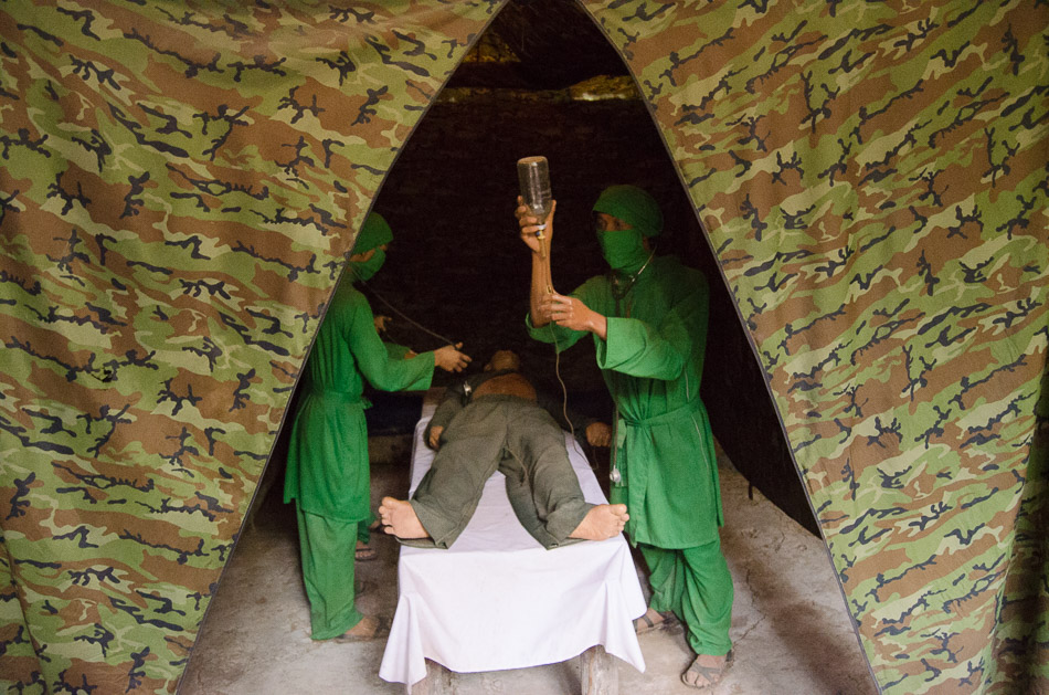 Mannequins on a hospital set below the Cu Chi Tunnels