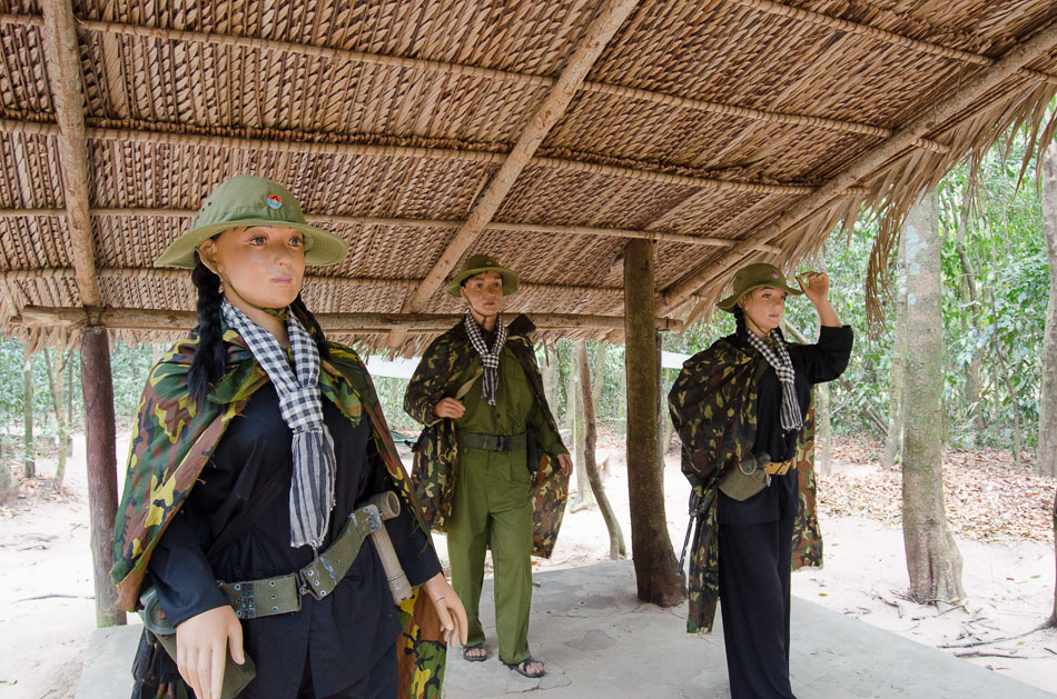 Mannequins of Cu Chi soldiers