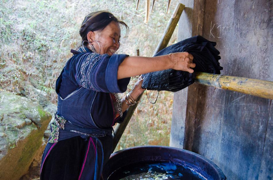 Hmong fabric dye