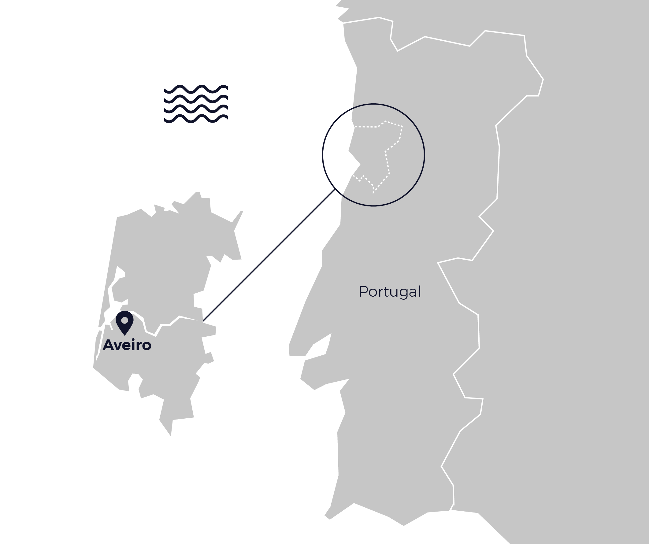Map of Aveiro
