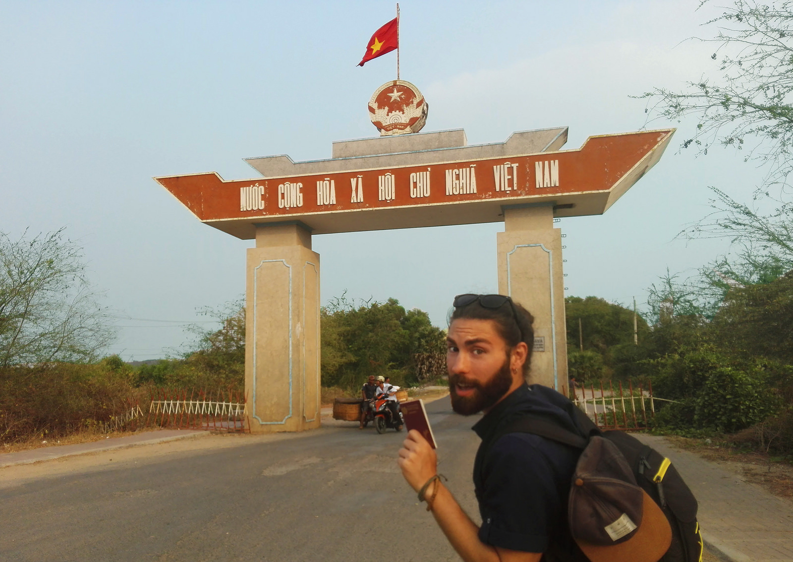 Mario crossing a vietnamese border